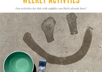 Week 2 of Family Activities
