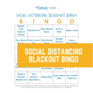 Social Distancing Blackout Bingo